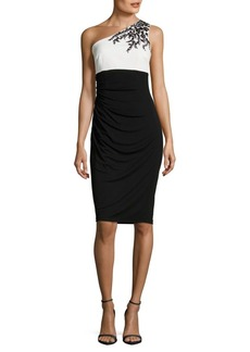David Meister Cinched Colorblock Dress