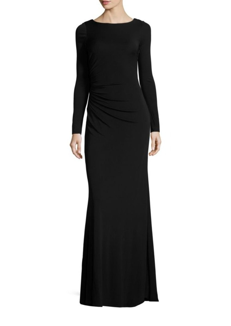 David Meister Cowl Back Jersey Gown