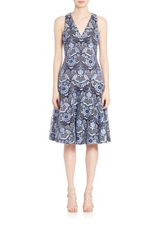 David Meister Embroidered Cocktail Dress