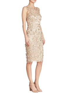 David Meister Floral Applique Dress