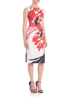 David Meister Floral Cotton Day Sheath Dress