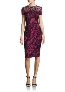 David Meister Floral Embroidered Dress