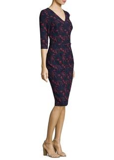 David Meister Floral Knee-Length Dress