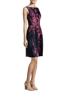 David Meister Floral Print Cocktail Dress
