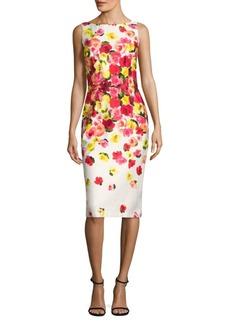 David Meister Floral Printed Dress