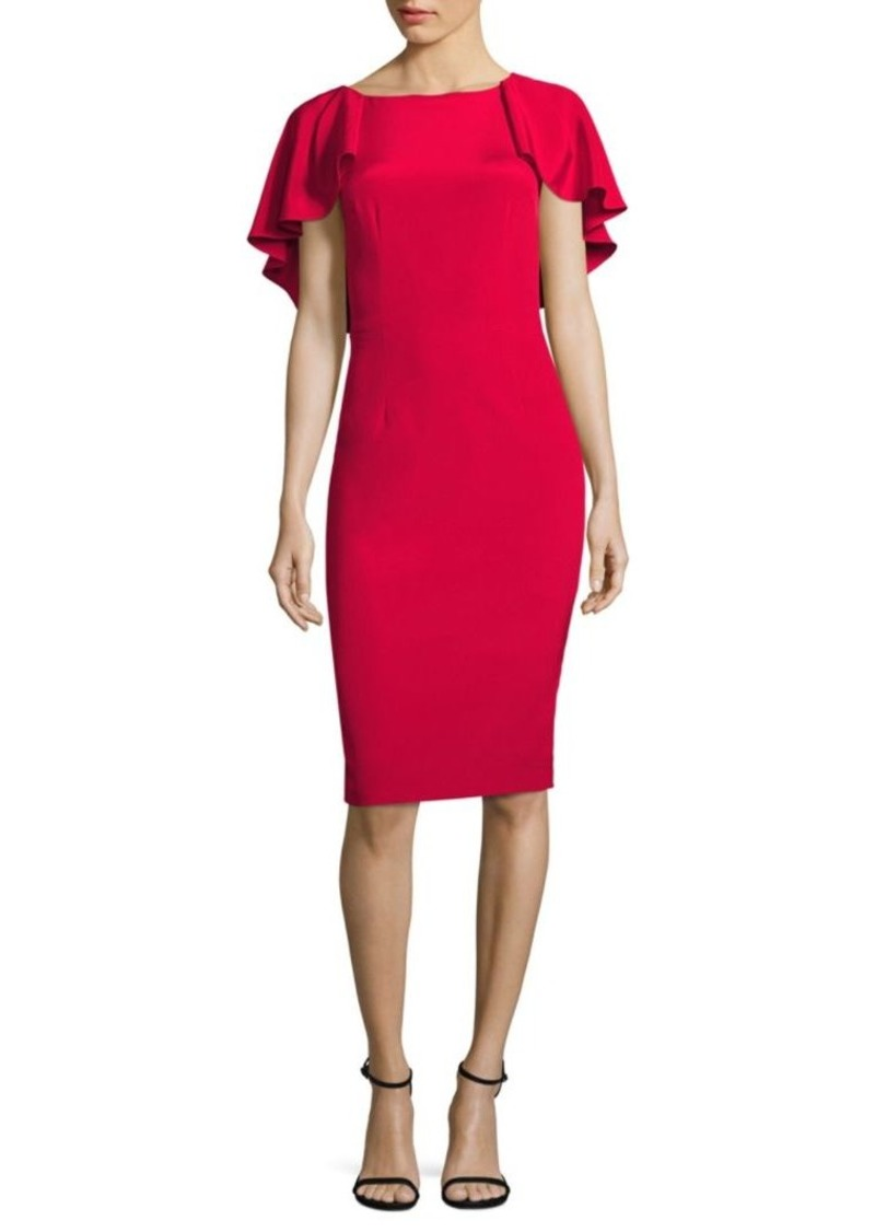 David Meister Flutter Cocktail Dress