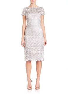 David Meister Geo Lace Dress