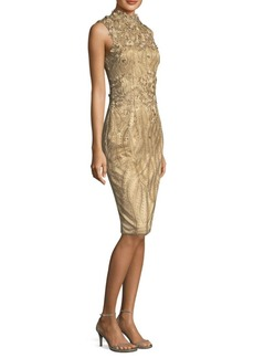 David Meister Intricate Sheath Dress