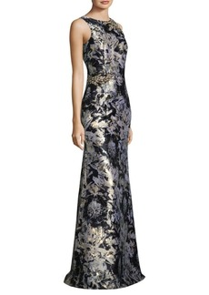 Metallic Jacquard Gown