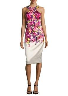 David Meister Mikado Print Dress