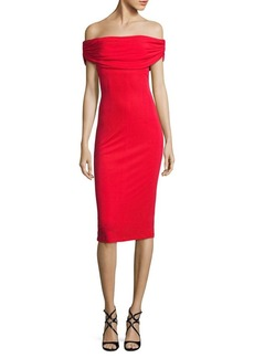 David Meister Off-The-Shoulder Jersey Dress