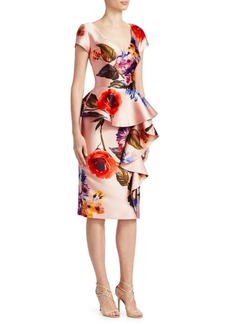 Peplum Floral Cocktail Dress