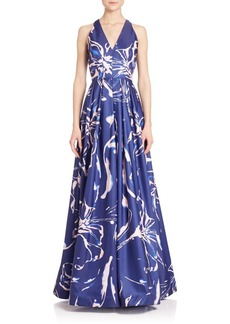 David Meister Printed Ball Gown