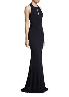 David Meister Ruched Jersey Gown