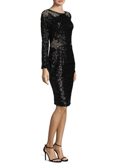 David Meister Sequin Cocktail Dress