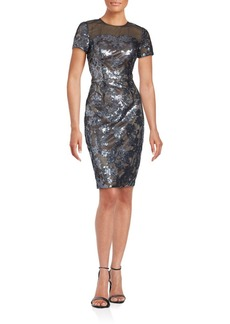 David Meister Sequin Embellished Dress