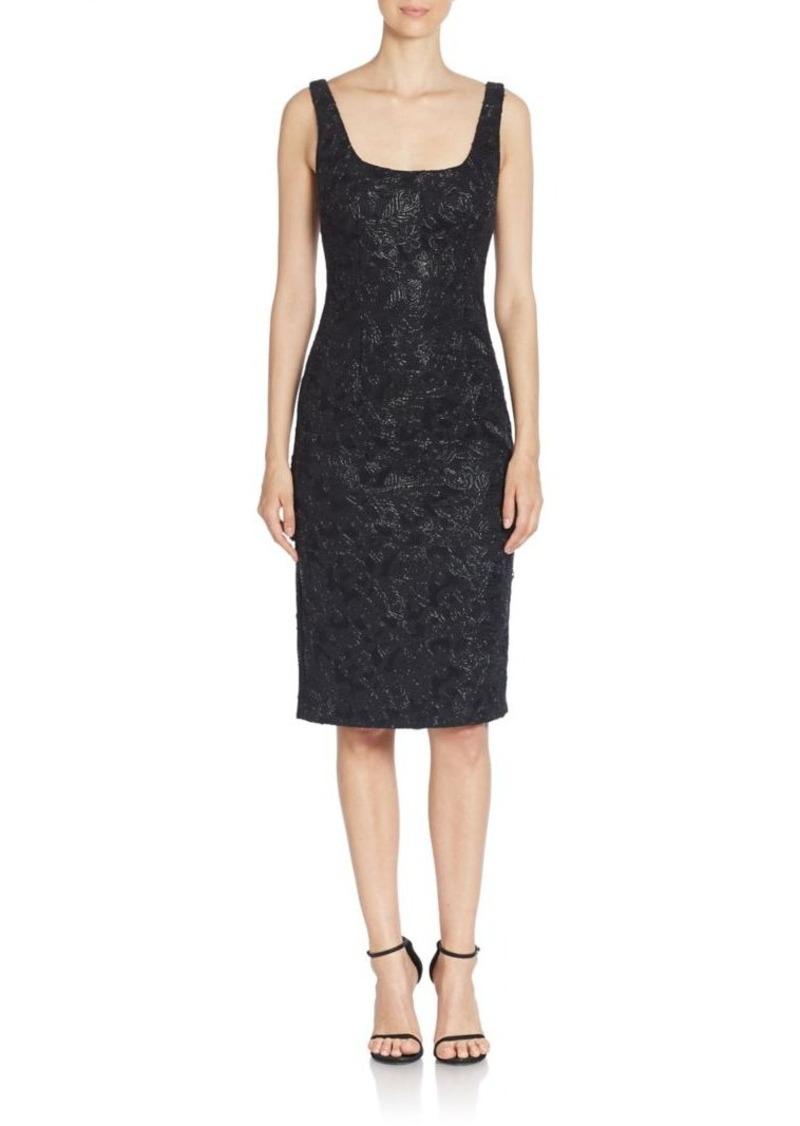 David Meister Sequin Embellished Sleeveless Sheath Dress