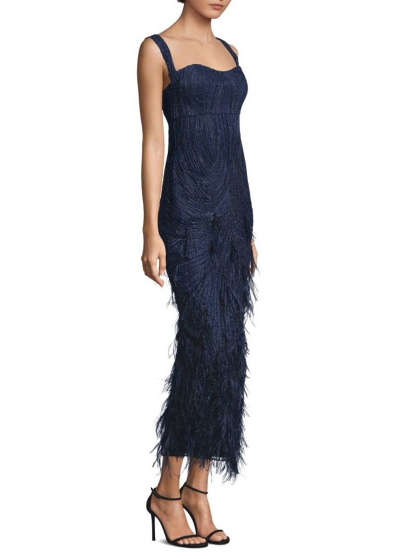 On Sale today! David Meister Embellished Feather-Accented Gown
