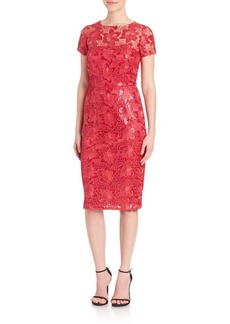 David Meister Sequin Lace Dress