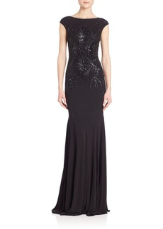 David Meister Sequined Gown