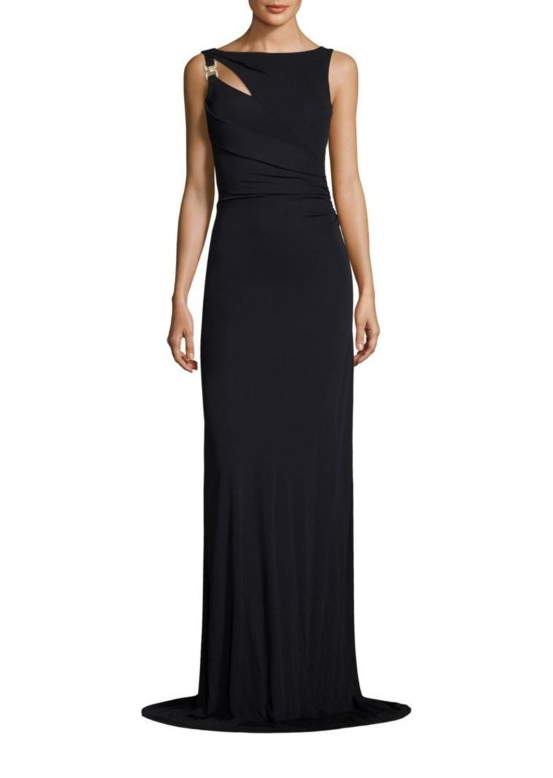 David Meister Shirred Jersey Gown