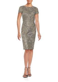 David Meister Short Sleeve Sheath Dress