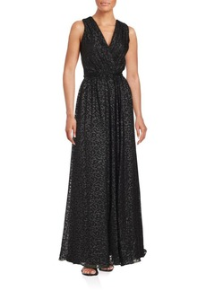 David Meister Sleeveless Floor-Length Gown