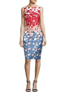 David Meister Sleeveless Floral Cocktail Dress