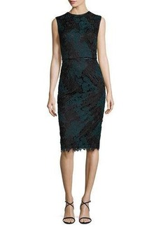 David Meister Sleeveless Lace Sheath Dress