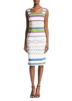 David Meister Sleeveless Printed Sheath Dress
