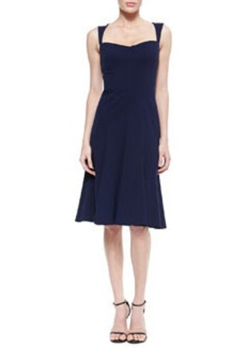 David Meister Sleeveless Sweetheart-Neckline Dress, Navy