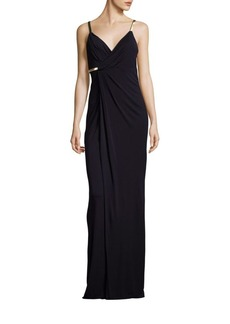 David Meister Solid Column Gown
