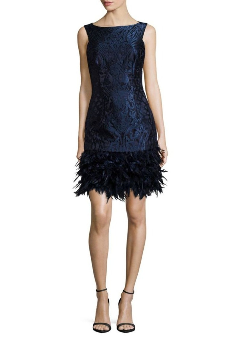 On Sale today! David Meister David Meister Solid Sleeveless Feather ...
