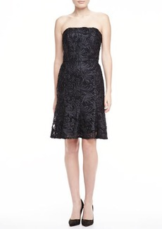 David Meister Strapless Lace Dress