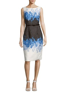 David Meister Textured Sleeveless Dress