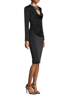 David Meister Embellished Sheath Dress