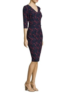 David Meister Floral Knee-Length Dress