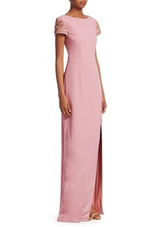 David Meister Front-Slit Gown