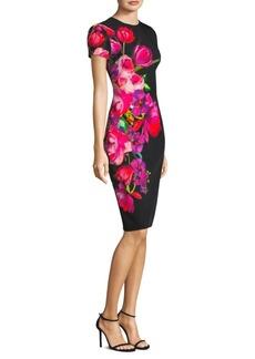 David Meister Printed Bold Floral Dress