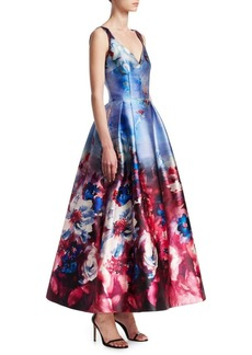Printed Sleeveless Gown