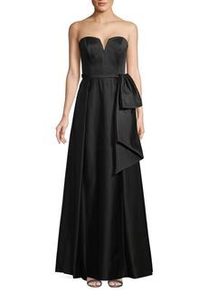 Theia Strapless Faille Gown