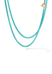 David Yurman 14kt yellow gold and coloured steel DY Bel Aire collection necklace