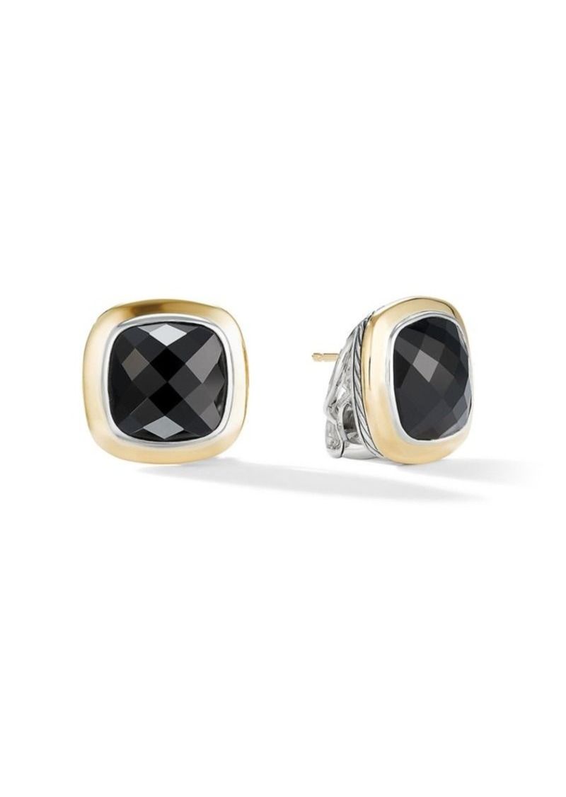 Albion 18k Yellow Gold Black Onyx Stud Earrings