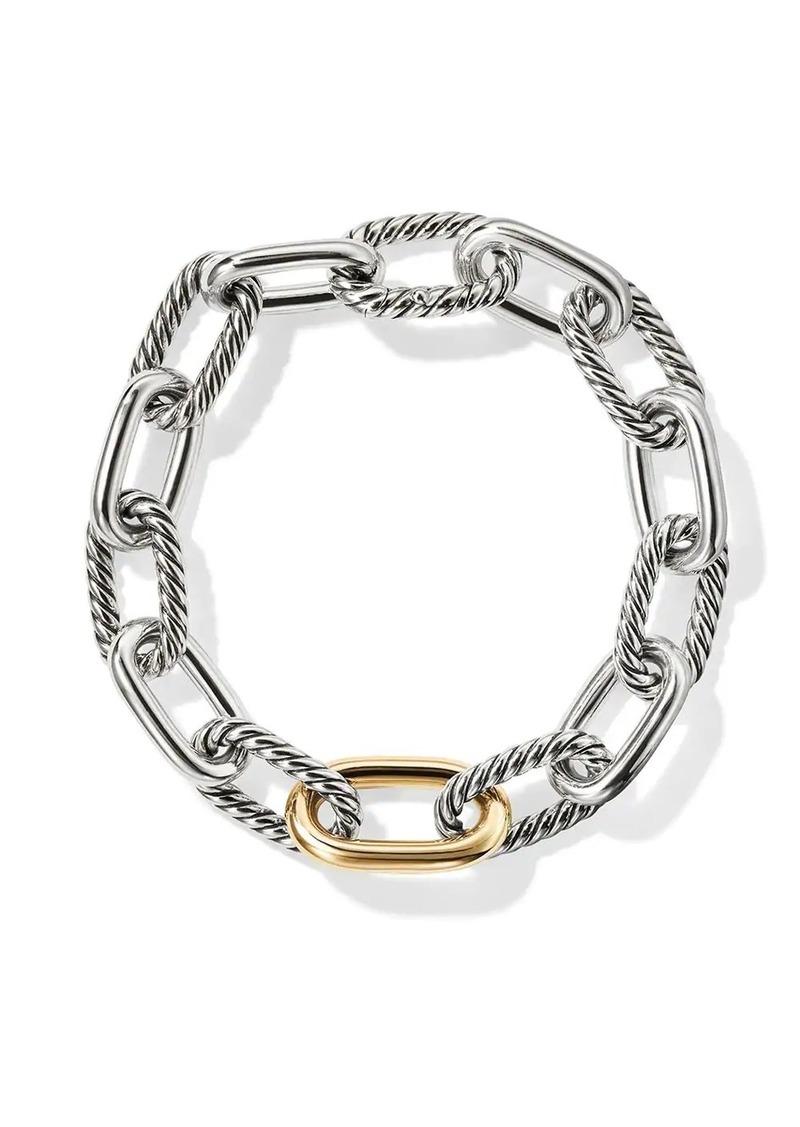 David Yurman sterling silver and 18kt bonded yellow gold detail DY Madison medium bracelet