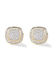David Yurman 18kt yellow gold Albion diamond stud earrings
