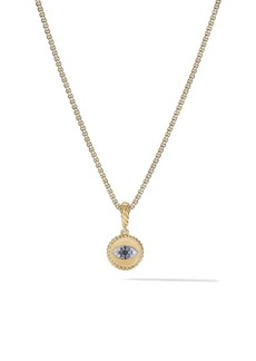 David Yurman 18kt yellow gold Amulets diamond and sapphire Evil Eye pendant