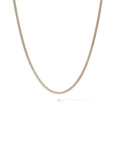 David Yurman 18kt yellow gold Box Chain necklace