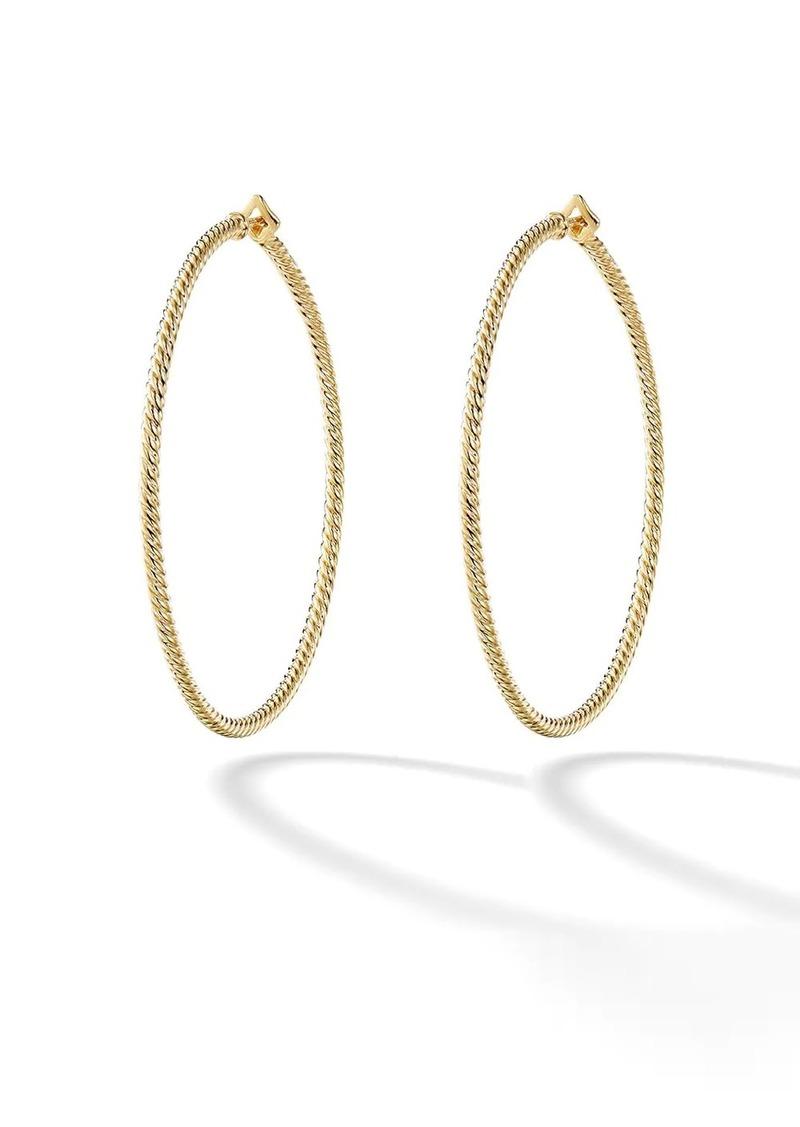 David Yurman 18kt yellow gold Cable Classics hoop earrings