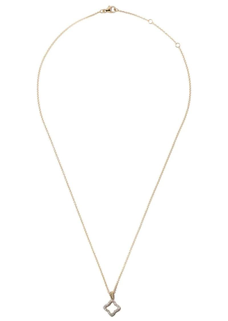 David Yurman 18kt yellow gold Cable Collectibles Quatrefoil diamond pendant necklace