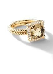 David Yurman 18kt yellow gold Châtelaine citrine and diamond ring